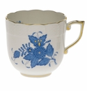 Herend Chinese Bouquet Blue Mocha Cup  (4 Oz)