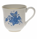 """Herend Chinese Bouquet Blue Mug  (10 Oz) 3.5""""H"""