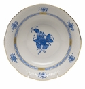 """Herend Chinese Bouquet Blue Oatmeal Bowl  6.5""""D"""