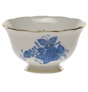 """Herend Chinese Bouquet Blue Open Sugar Bowl  3""""D 1.5""""H"""