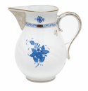 """Herend Chinese Bouquet Blue Pitcher (60 Oz) 7.75""""H"""