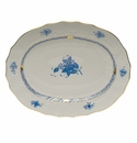 """Herend Chinese Bouquet Blue Platter  17""""L X 12.5""""W"""