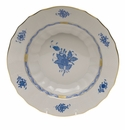 """Herend Chinese Bouquet Blue Rim Soup  9.5""""D"""