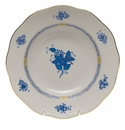 """Herend Chinese Bouquet Blue Rim Soup Plate  8""""D"""