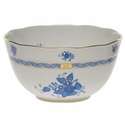 """Herend Chinese Bouquet Blue Round Bowl  (3.5 Pt) 7.5""""D"""