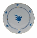"""Herend Chinese Bouquet Blue Round Platter  13.75""""D"""