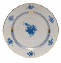 """Herend Chinese Bouquet Blue Salad Plate  7.5""""D"""