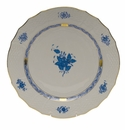 """Herend Chinese Bouquet Blue Service Plate  11""""D"""