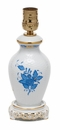 Herend Chinese Bouquet Blue Small Basketweave Lamp Only