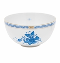 """Herend Chinese Bouquet Blue Small Bowl 3""""H X 5.75""""D"""