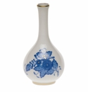 """Herend Chinese Bouquet Blue Small Bud Vase 3.5""""H"""