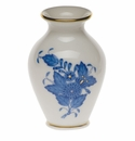 """Herend Chinese Bouquet Blue Small Bud Vase With Lip 2.5""""H"""