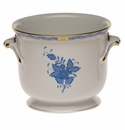 """Herend Chinese Bouquet Blue Small Cachepot 5.75""""H X 6.5""""D"""