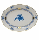 """Herend Chinese Bouquet Blue Small Oval Dish 7.5""""L X 1.5""""H"""