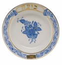 """Herend Chinese Bouquet Blue Small Seder Bowl Baytza 3.75""""D"""