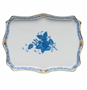 """Herend Chinese Bouquet Blue Small Tray 7.5""""L X 5.5""""W"""
