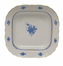 """Herend Chinese Bouquet Blue Square Fruit Dish  11""""Sq"""