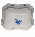 """Herend Chinese Bouquet Blue Square Salad Bowl  10""""Sq"""