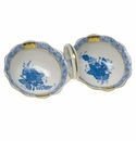 """Herend Chinese Bouquet Blue Twin Salt  5.5""""L"""