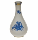 """Herend Chinese Bouquet Blue Vase  6.5""""H"""