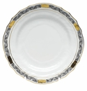 "Herend Chinese Bouquet Garland Black Bread & Butter Plate 6""D"