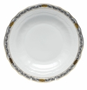 "Herend Chinese Bouquet Garland Black Dessert Plate 8.25""D"