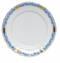 "Herend Chinese Bouquet Garland Blue Bread & Butter Plate 6""D"