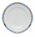 "Herend Chinese Bouquet Garland Blue Dessert Plate 8.25""D"