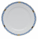 "Herend Chinese Bouquet Garland Blue Dinner Plate 10.5""D"