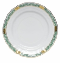 "Herend Chinese Bouquet Garland Green Bread & Butter Plate 6""D"