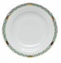 "Herend Chinese Bouquet Garland Green Dessert Plate 8.25""D"