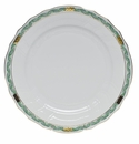 "Herend Chinese Bouquet Garland Green Dinner Plate 10.5""D"