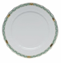 "Herend Chinese Bouquet Garland Green Service Plate 11""D"