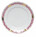 "Herend Chinese Bouquet Garland Raspberry Bread & Butter Plate 6""D"