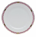 "Herend Chinese Bouquet Garland Raspberry Dinner Plate 10.5""D"