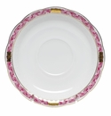 "Herend Chinese Bouquet Garland Raspberry Tea Saucer 6""D"