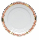 "Herend Chinese Bouquet Garland Rust Bread & Butter Plate 6""D"