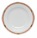 "Herend Chinese Bouquet Garland Rust Dessert Plate 8.25""D"