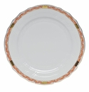 "Herend Chinese Bouquet Garland Rust Dinner Plate 10.5""D"