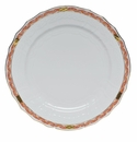"Herend Chinese Bouquet Garland Rust Service Plate 11""D"