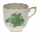 Herend Chinese Bouquet Green After Dinner Cup (3 Oz)
