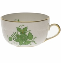 Herend Chinese Bouquet Green Canton Cup  (6 Oz)