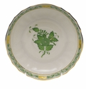 """Herend Chinese Bouquet Green Canton Saucer  5.5""""D"""