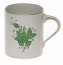 """Herend Chinese Bouquet Green Coffee Mug (16 Oz) 4""""H"""