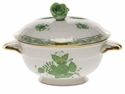 Herend Chinese Bouquet Green Covered Bouillon Lid Only With Rose Green