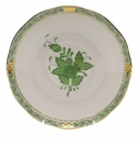 """Herend Chinese Bouquet Green Covered Bouillon Saucer  6.5""""D"""
