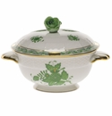Herend Chinese Bouquet Green Covered Cup With Rose Lid - Kit (8 Oz