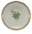 """Herend Chinese Bouquet Green Cream Soup Stand  7.25""""D"""
