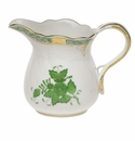 """Herend Chinese Bouquet Green Creamer  (10 Oz) 4""""H"""