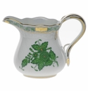 """Herend Chinese Bouquet Green Creamer  (4 Oz) 3.25""""H"""